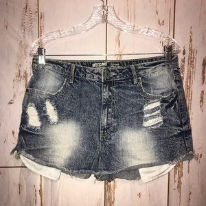 Mossimo size 13 distressed shorts